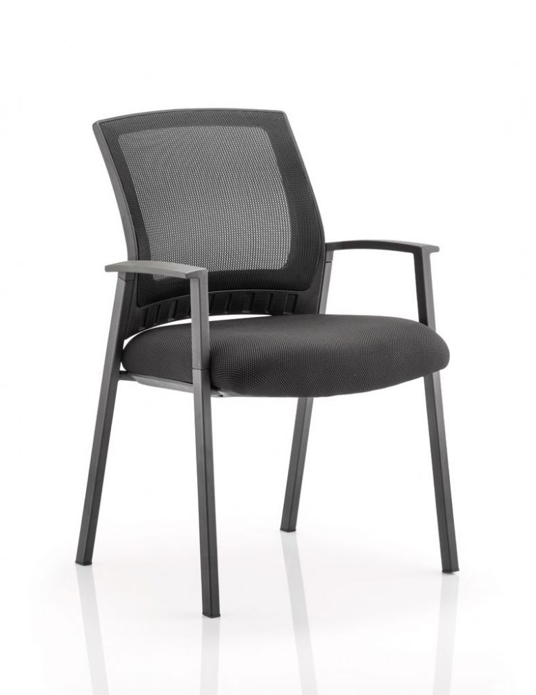 Metro Visitor Chair with Black Frame, Arms, Mesh Back and Comfortable Seat available various Colours